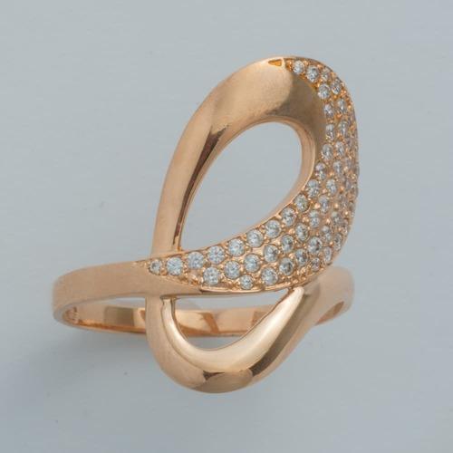 Золотое кольцо с фианитами. К1627
