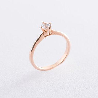 Золотое помолвочное кольцо (циркон Swarovski) к06231