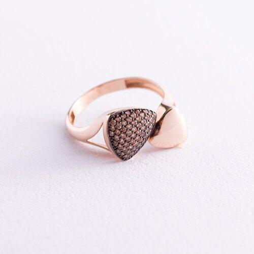Золотое кольцо с фианитами к05399