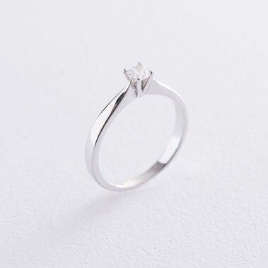 Золотое помолвочное кольцо (циркон Swarovski) к06255