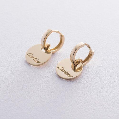 Серьги в желтом золоте. с06358