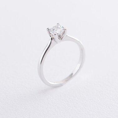Помолвочное кольцо в белом золоте (фианит) к06313
