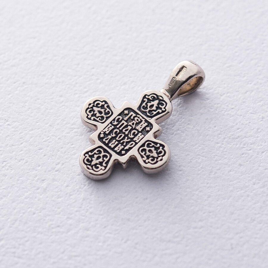 Золотой детский крестик с чернением п03215