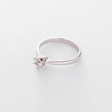 Золотое помолвочное кольцо (циркон Swarovski) к06298