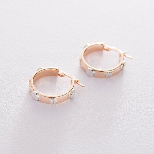 Золотые серьги-кольца 2.0 см с06424
