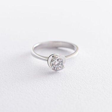 Золотое помолвочное кольцо с фианитами к02601