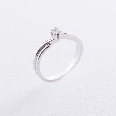 Золотое помолвочное кольцо (фианит) к06161