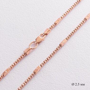 Цепочка в красном золоте (2.5 мм) ц00434
