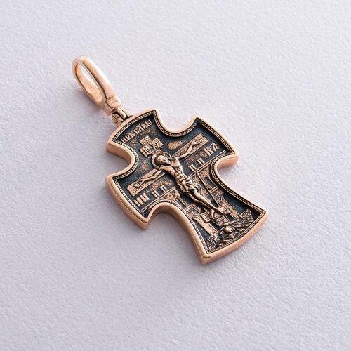 Золотой православный крестик. п02429