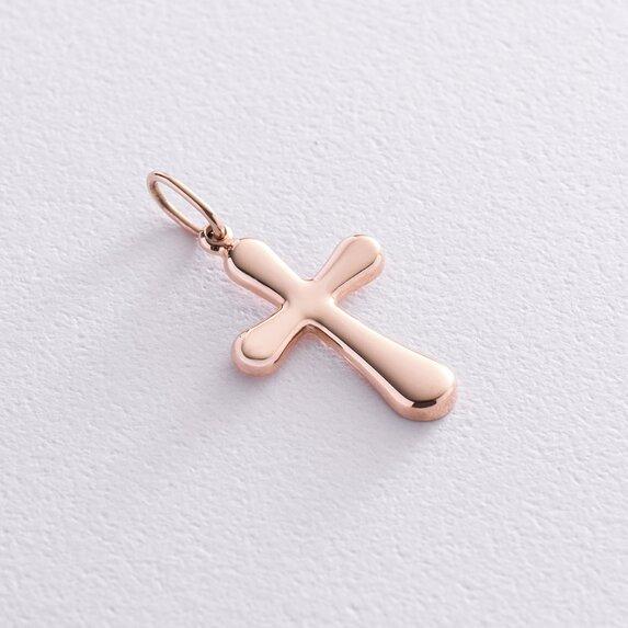 Крестик в красном золоте п03591