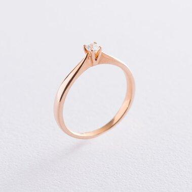 Золотое помолвочное кольцо (циркон Swarovski) к06222