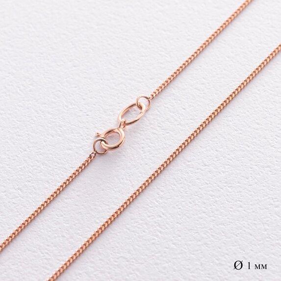 Золотая цепочка плетение панцирное (1 мм) ц00039-1