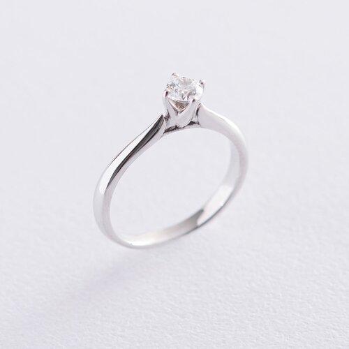 Кольцо из белого золота с камнем Сваровски к06267