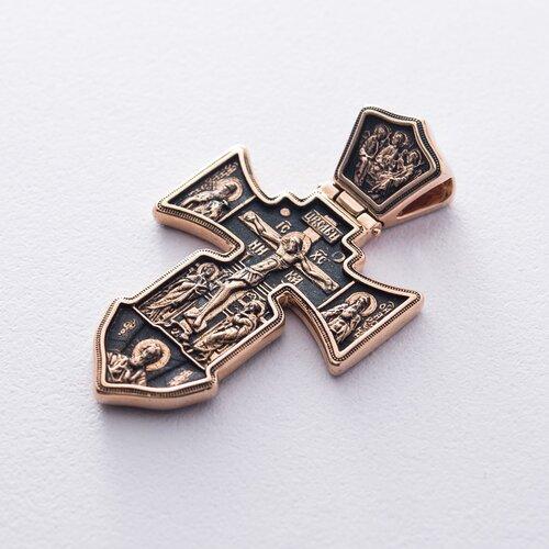 """Православный крест """"Распятие. Ангел Хранитель"""" п01841"""