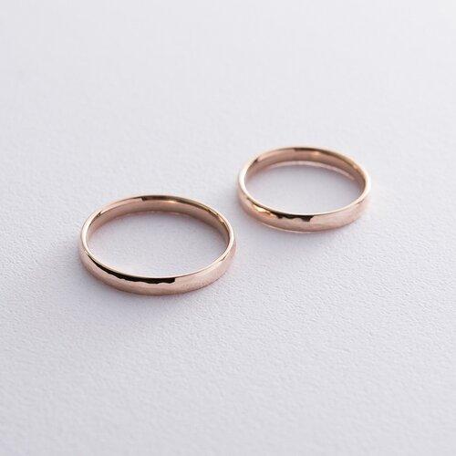 Золотое обручальное кольцо 3 мм (текстурное). обр00409