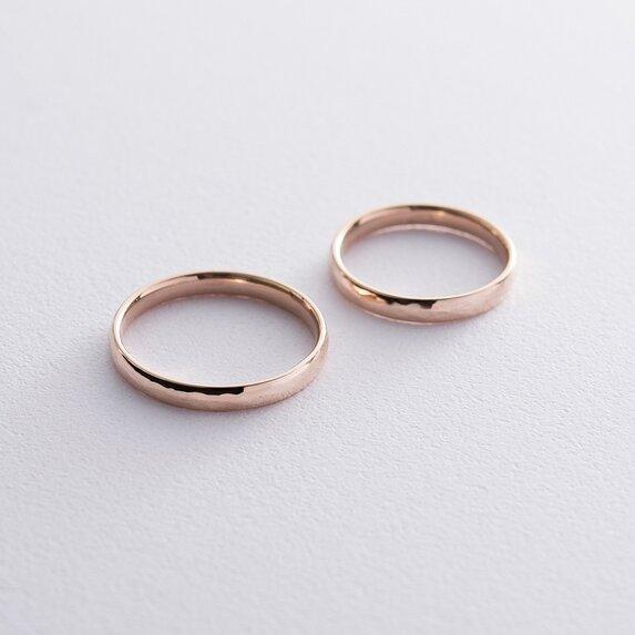 Золотое обручальное кольцо 3 мм (текстурное) обр00409