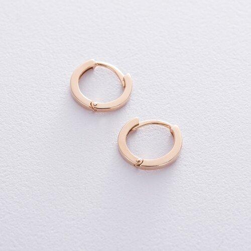 Серьги-кольца в красном золоте с06458