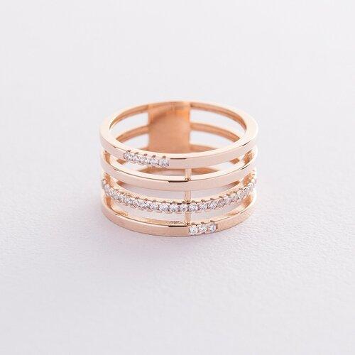 Золотое кольцо с фианитами. к06513