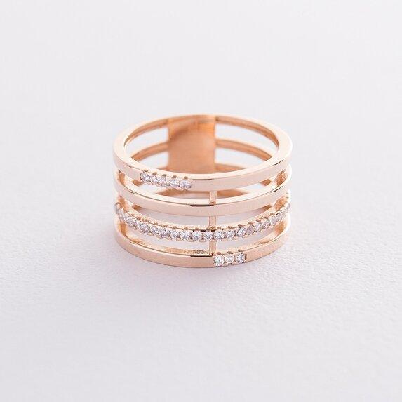 Золотое кольцо с фианитами к06513