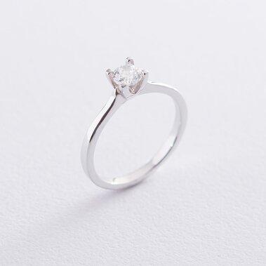 Помолвочное кольцо в белом золоте (куб. цирконий Swarovski) к06316