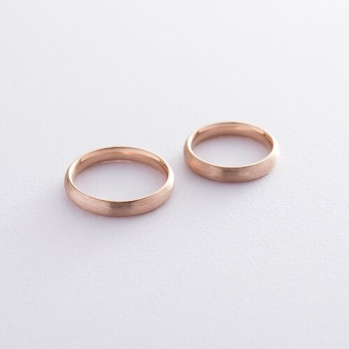 Золотое обручальное кольцо 4 мм (матовое). обр00404