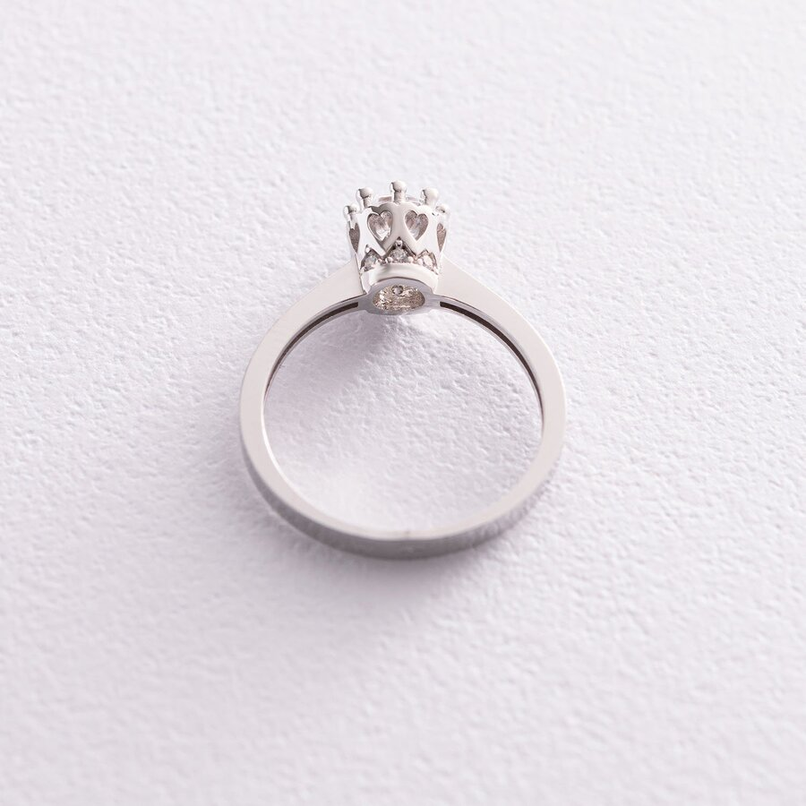 Золотое помолвочное кольцо с фианитом к06060