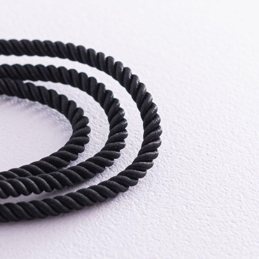 Шелковый шнурок с гладкой золотой застежкой (3мм) кол00938