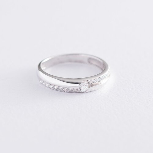Золотое кольцо с фианитами к06160