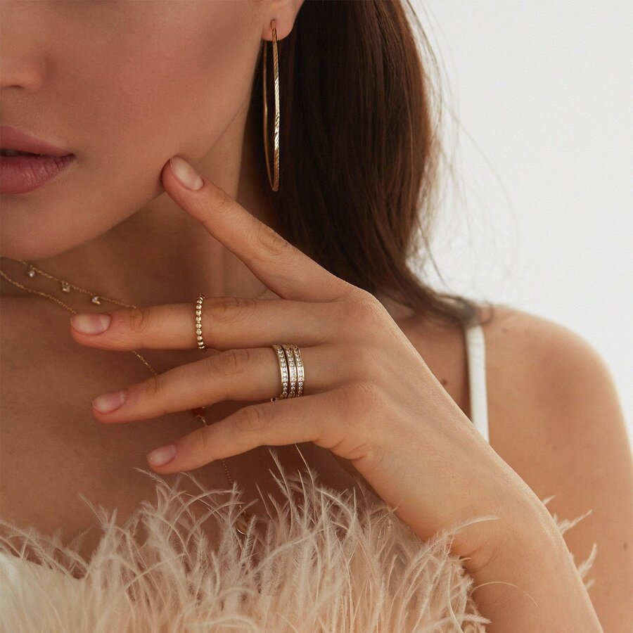 Золотое кольцо в стиле минимализм к05332