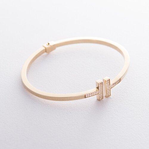 Золотой браслет (фианиты) б02314