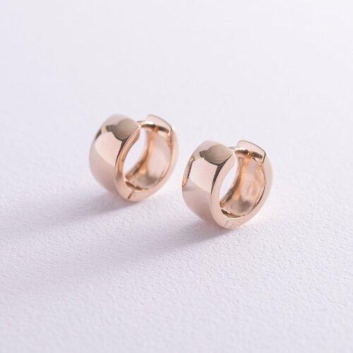 Серьги - кольца в красном золоте с06961