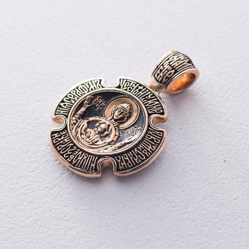 Золотая ладанка «Троица. Божия Матерь «Знамение». п02642