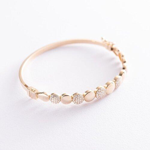 Золотой браслет (фианиты) б03936