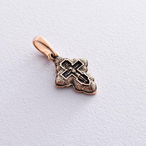 Золотой крестик с распятием. п02659