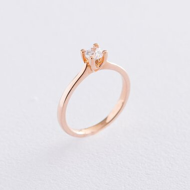 Золотое помолвочное кольцо (циркон Swarovski) к06257