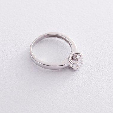 Золотое помолвочное кольцо (куб. циркон Swarovski) к06278
