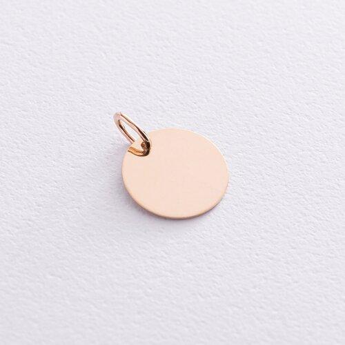 Кулон для гравировки в желтом золоте (1.4 см) п03522