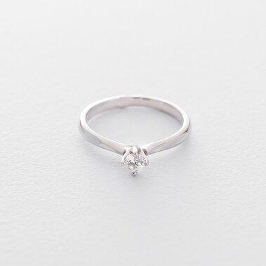 Золотое помолвочное кольцо (куб. циркон Swarovski) к06269