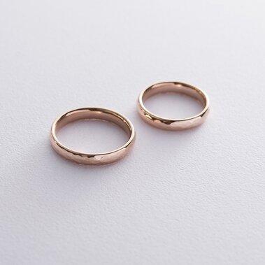 Золотое обручальное кольцо 4 мм (текстурное) обр00410