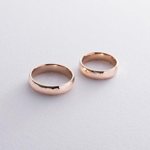 Золотое обручальное кольцо 5 мм (текстурное). обр00411