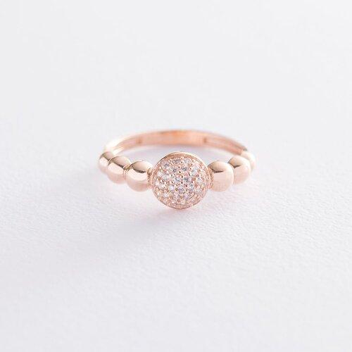 Золотое кольцо с фианитами. к06530
