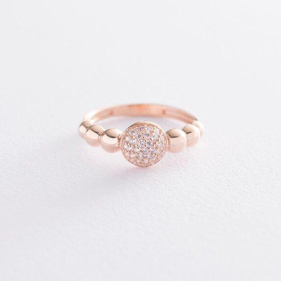 Золотое кольцо с фианитами к06530