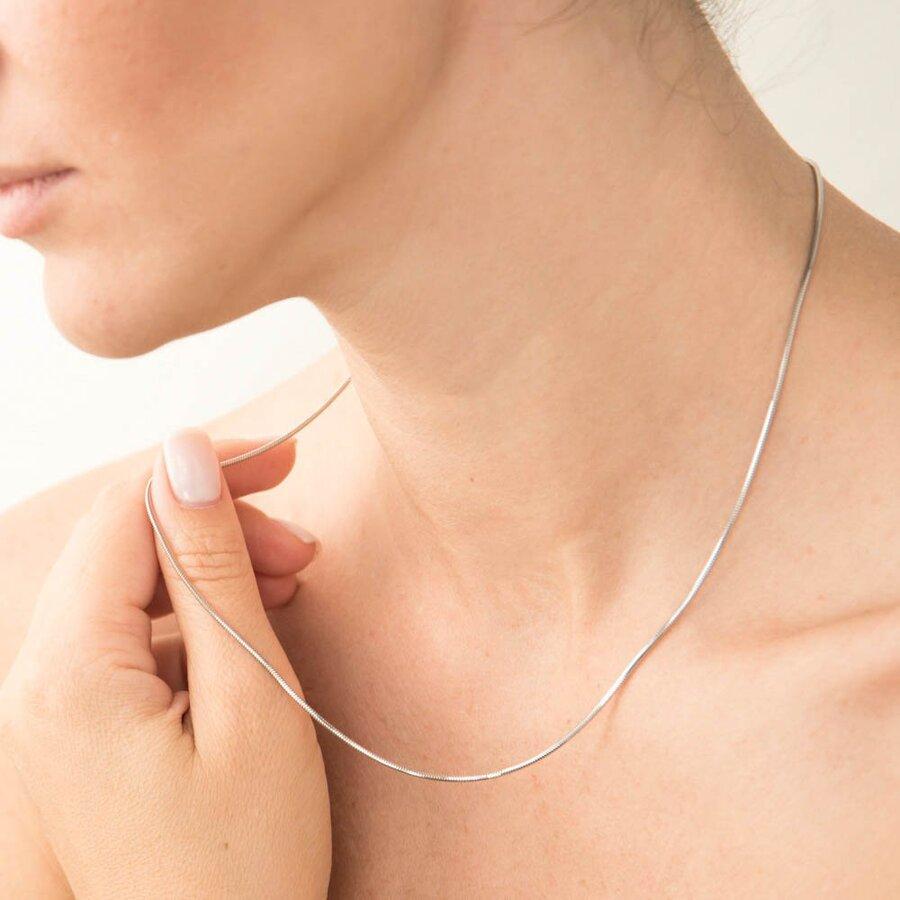 Золотая цепочка плетение Снейк (1 мм) ц00210-1