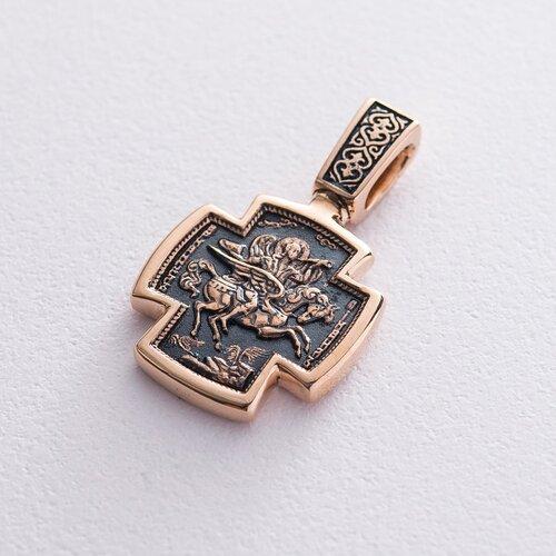 Золотой крест Архангел Михаил п02643