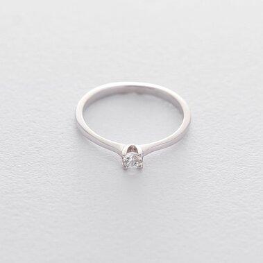 Золотое помолвочное кольцо (куб. циркон Swarovski) к06299
