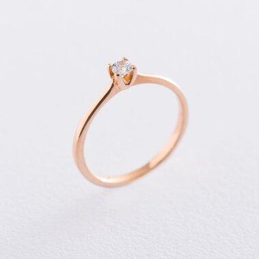Золотое помолвочное кольцо (циркон Swarovski) к06224