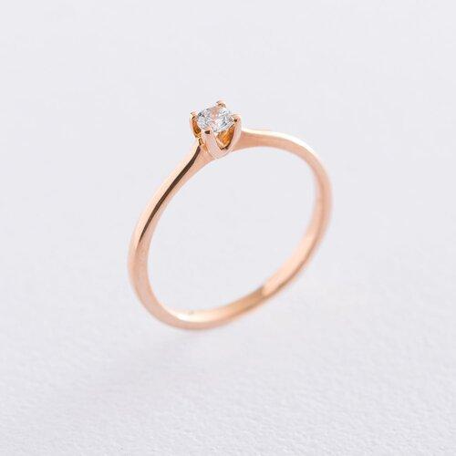 Золотое помолвочное кольцо (циркон Swarovski). к06224