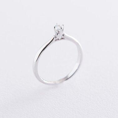 Помолвочное кольцо в белом золоте (куб. цирконий Swarovski) к06312