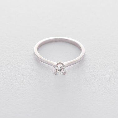 Золотое помолвочное кольцо (куб. циркон Swarovski) к06300