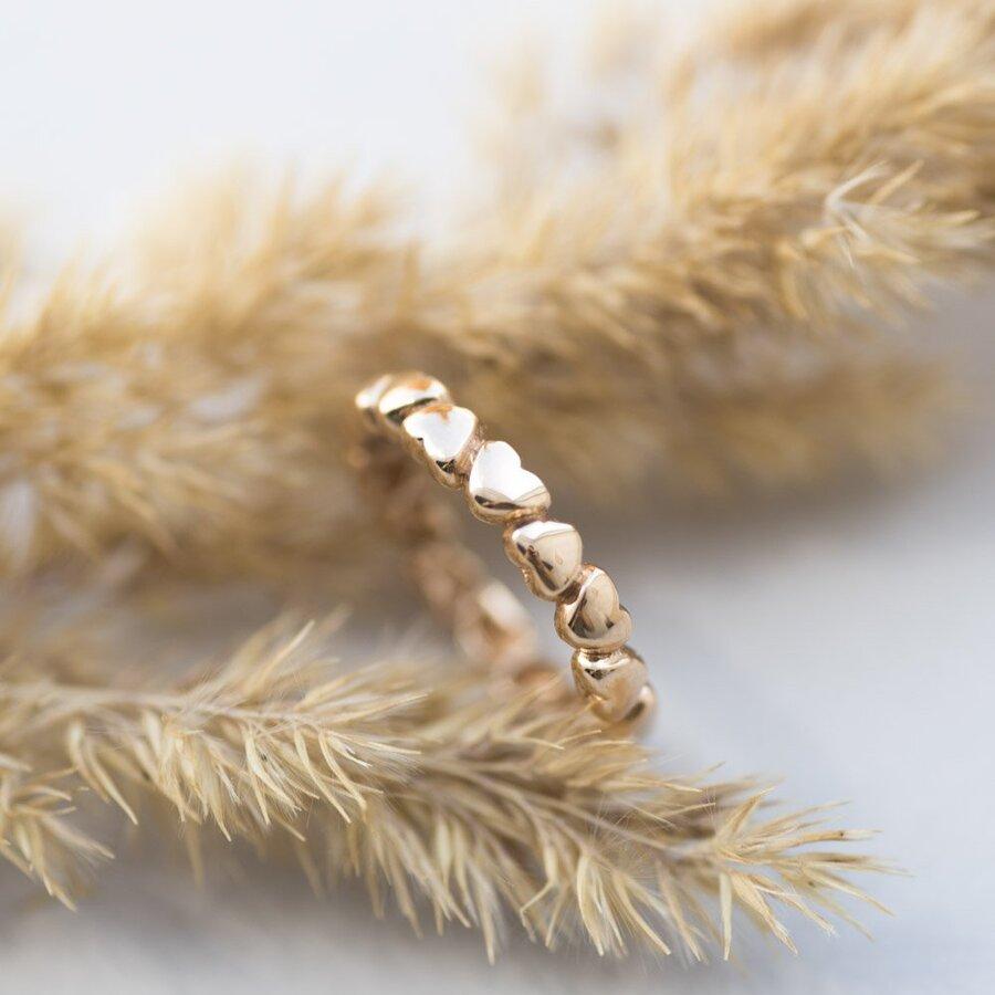 """Золотое кольцо """"Сердца"""" к05291"""